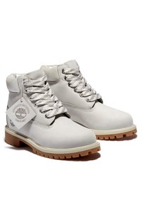 Timberland - Lace-up ankle boots - light grey nubuck - 1