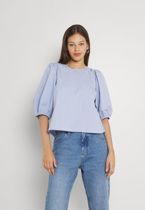 SARA OPEN BACK BLOUSE - T-shirt con stampa - blue