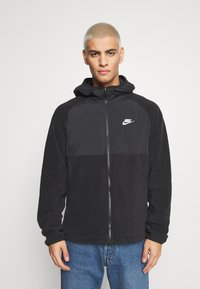 Nike Sportswear - HOODIE WINTER - Fleece jacket - black/white - 0