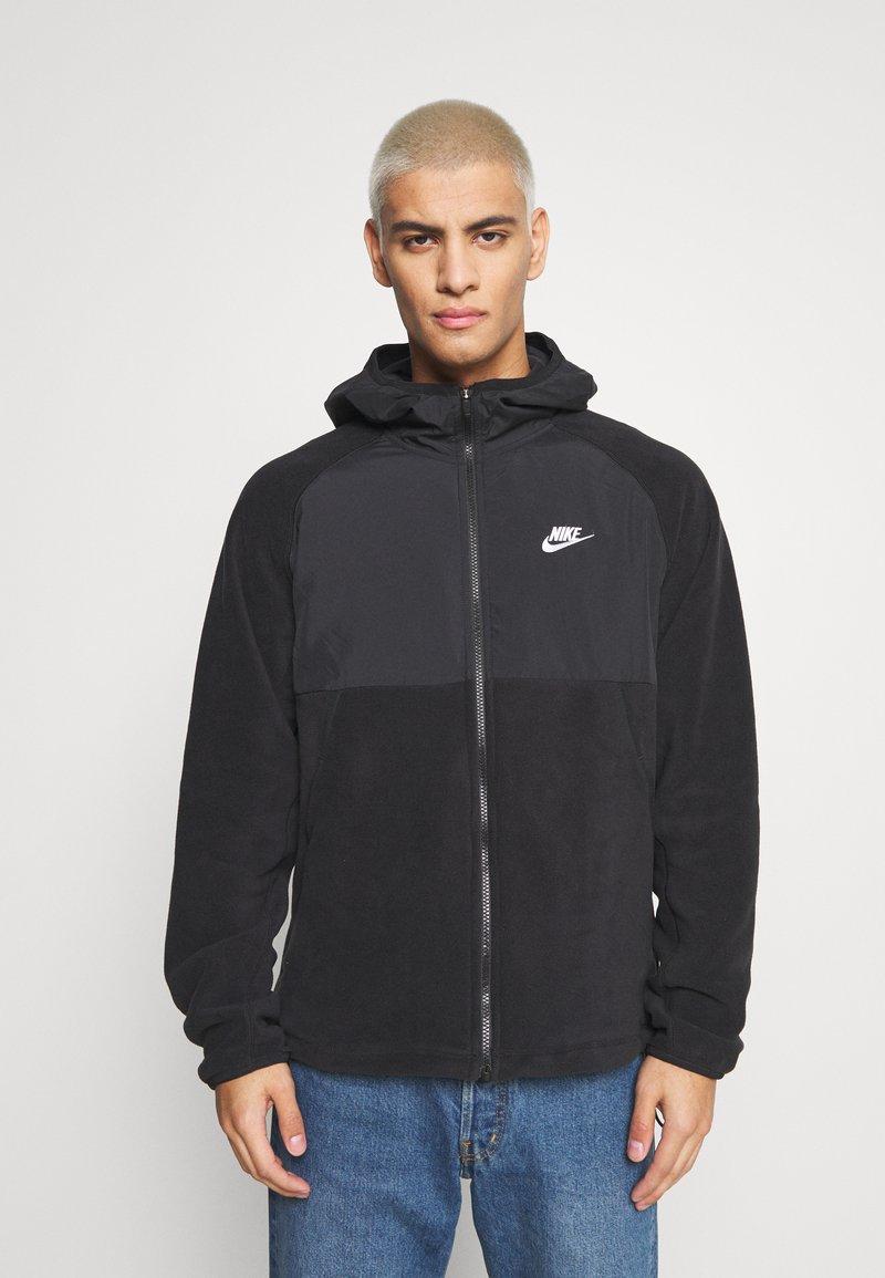 Nike Sportswear - HOODIE WINTER - Fleece jacket - black/white