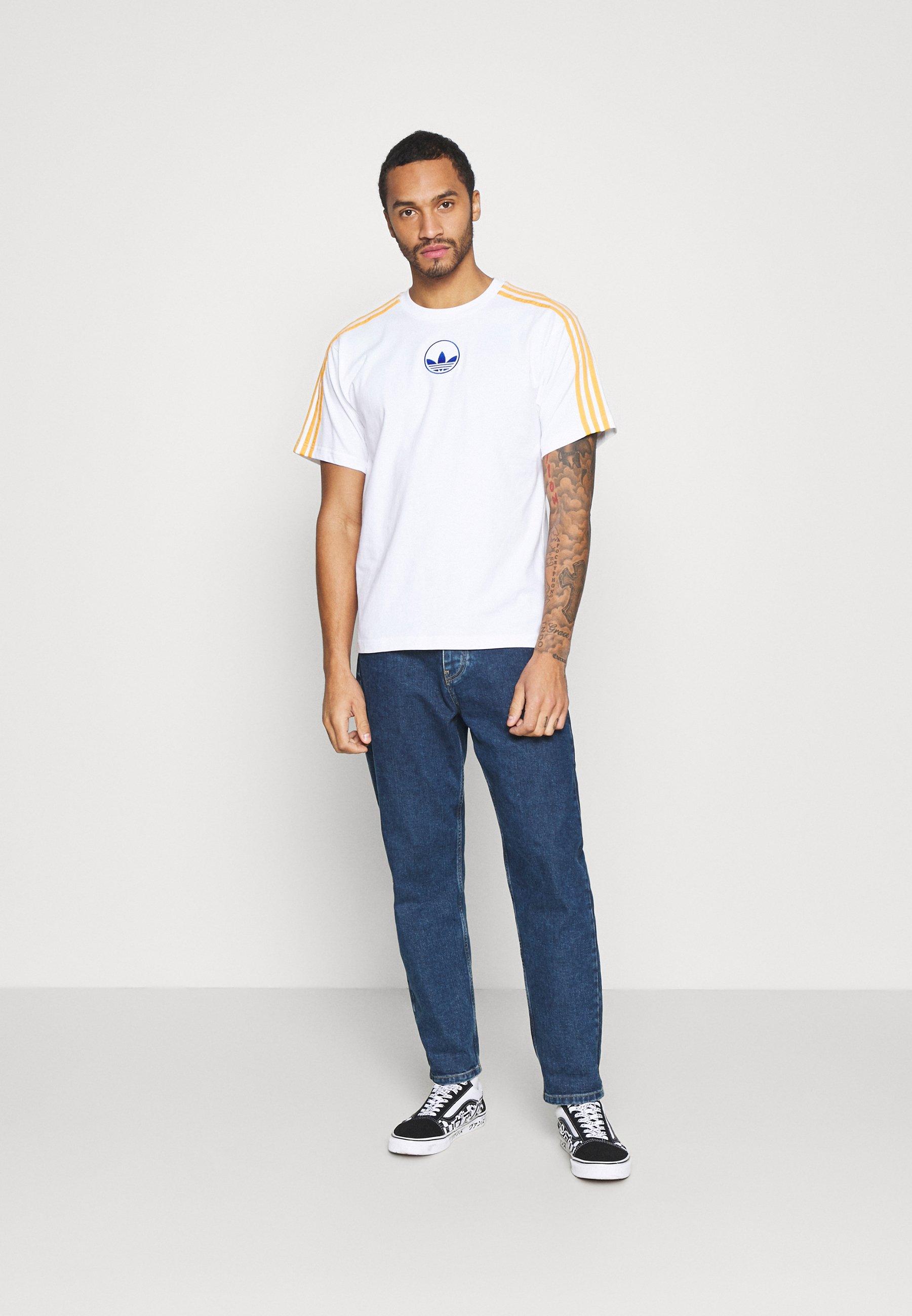 Adidas Originals Stripe Circle - T-shirts Med Print White/hvit