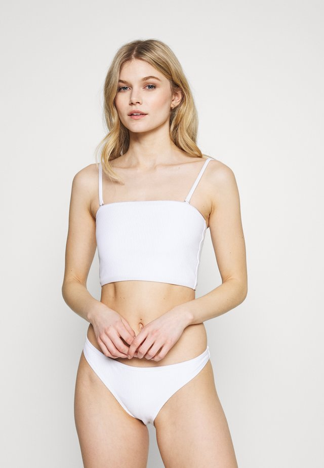 LONGLINE BANDEAU CLASSIC SET - Bikini - white