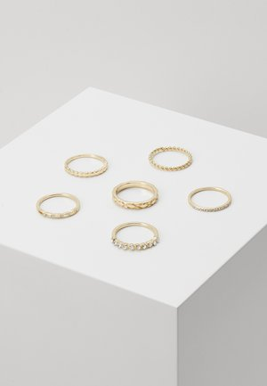 6 PACK - Ring - gold-coloured
