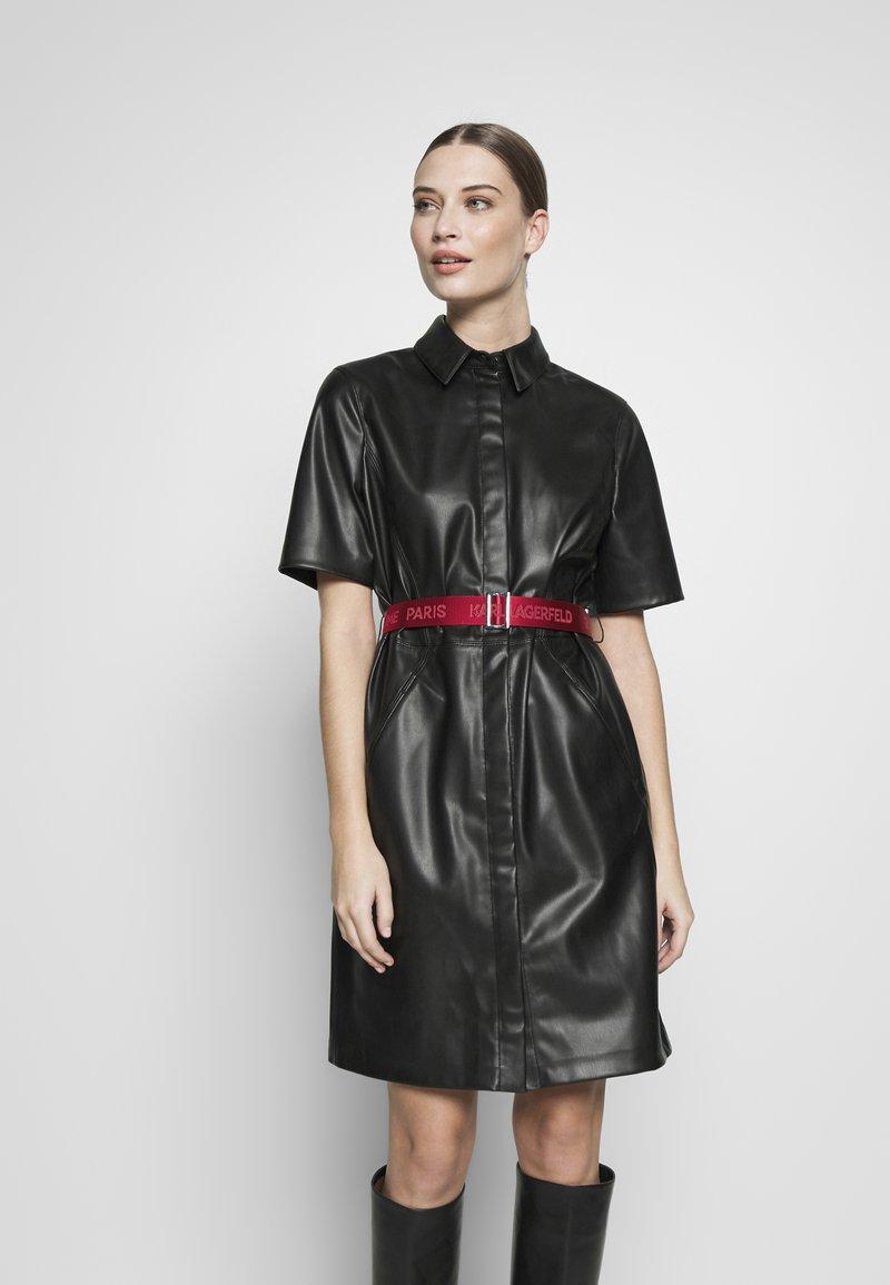 KARL LAGERFELD - SHIRT DRESS - Vestito elegante - black