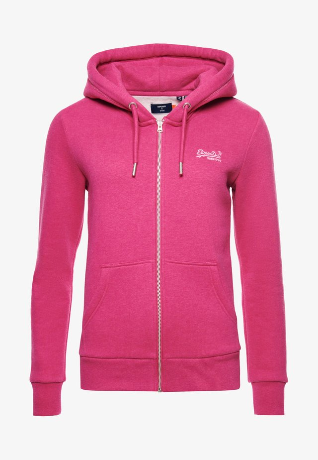 ORANGE LABEL - Zip-up hoodie - magenta marl