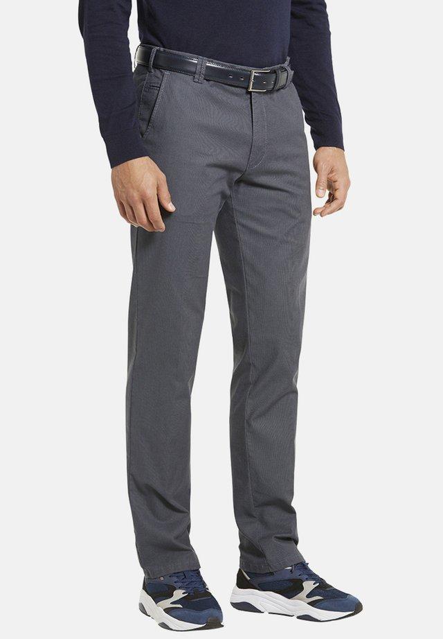 MODERNE FLAT FRONT HOSE BONN - Trousers - grau