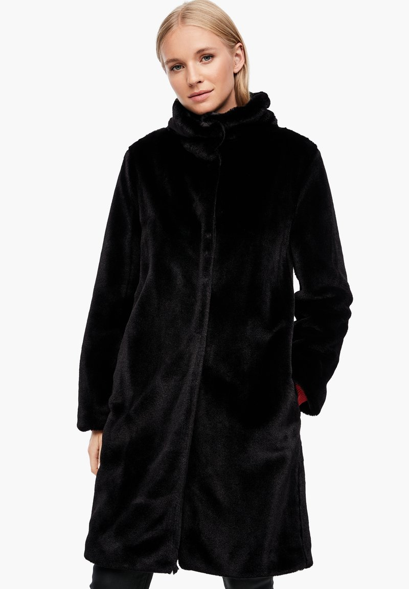 s.Oliver - TEDDY - Winter coat - black
