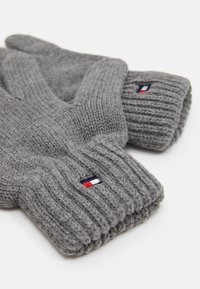 Tommy Hilfiger - FLAG GLOVES UNISEX - Rukavice - grey - 1