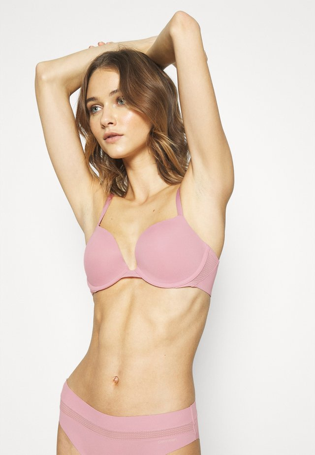 PERFECTLY FIT FLEX PLUNGE - T-shirt BH - echo pink