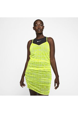 INDIO - Day dress - neon green, black, whi