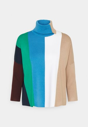 BLOCK STRIPE JUMPER - Strikkegenser - aqua multi