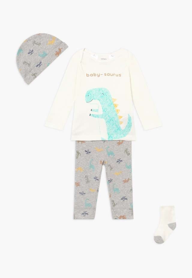DINO BABY SET - Trousers - heather