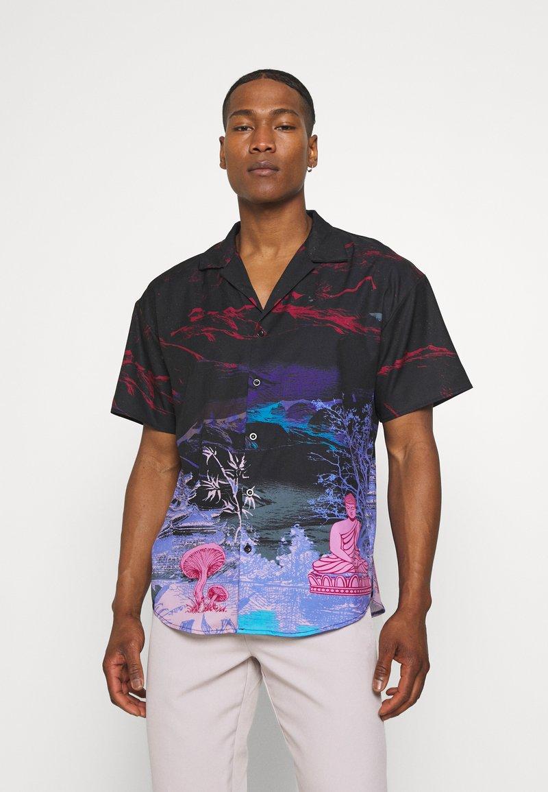 Mennace - SATURN SATEEN - Shirt - navy