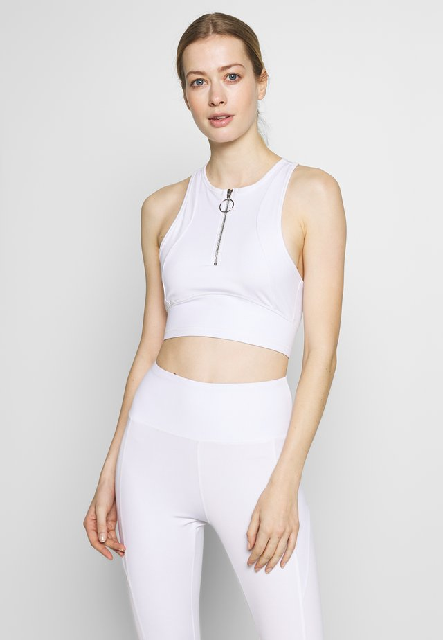 ZIP CROP - Toppi - white
