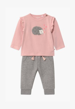 SET - Trousers - light pink/grey