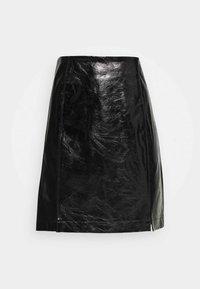 VIJUMAS SLIT SKIRT - Mini skirt - black