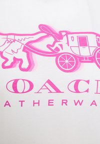 Coach - NEON HORSE AND CARRIAGE  - T-shirt con stampa - white - 5