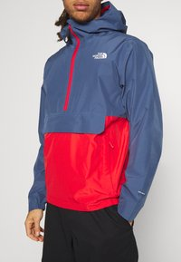 The North Face - WATERPROOF FANORAK - Hardshell-jakke - vintage indigo/rococco red - 5