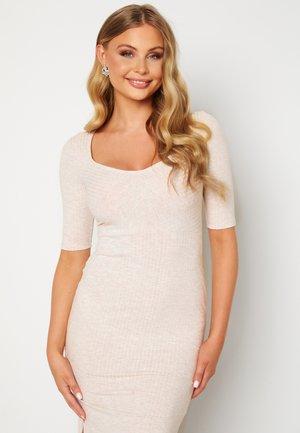 Jerseyklänning - Tan