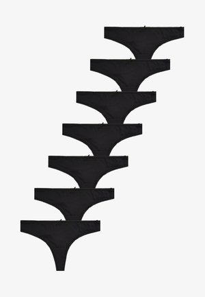 7 Pack - Thong - black
