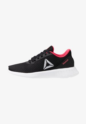LITE - Neutral running shoes - black/white/hyper pink