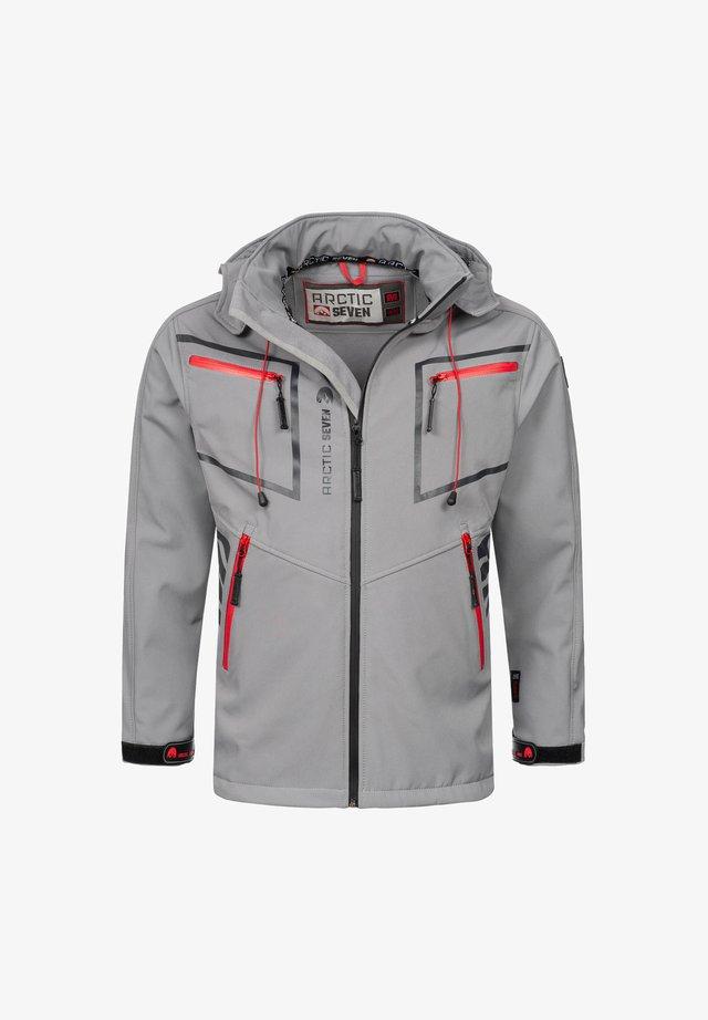 Soft shell jacket - hellgrau