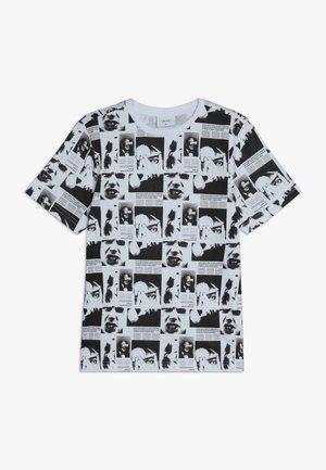 LUCIFER TEE - Print T-shirt - white/black