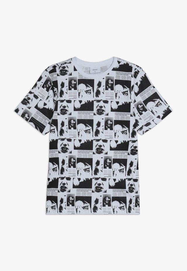 LUCIFER TEE - T-shirt imprimé - white/black