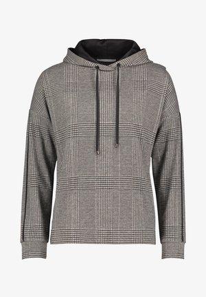 MIT KAPUZE - Hoodie - grau/schwarz