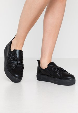 Loafers - black metallic
