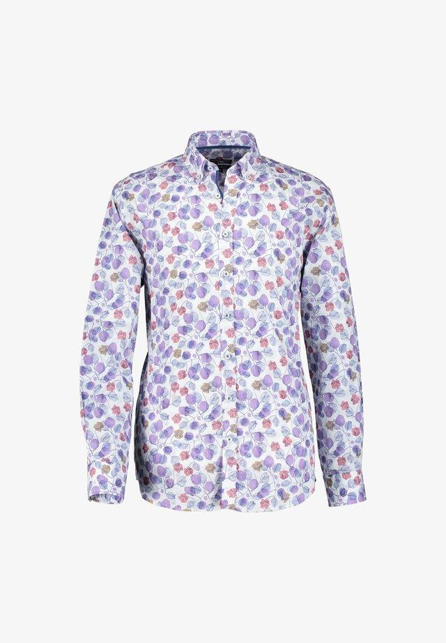 Overhemd - violet/cognac