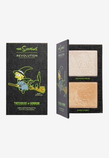 REVOLUTION THE SIMPSONS MINI HIGHLIGHTER PALETTE - Face palette - witch lisa