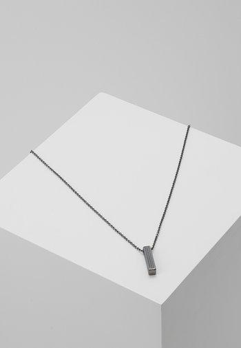 PINSTRIPE NECKLACE - Halsband - gunmetal