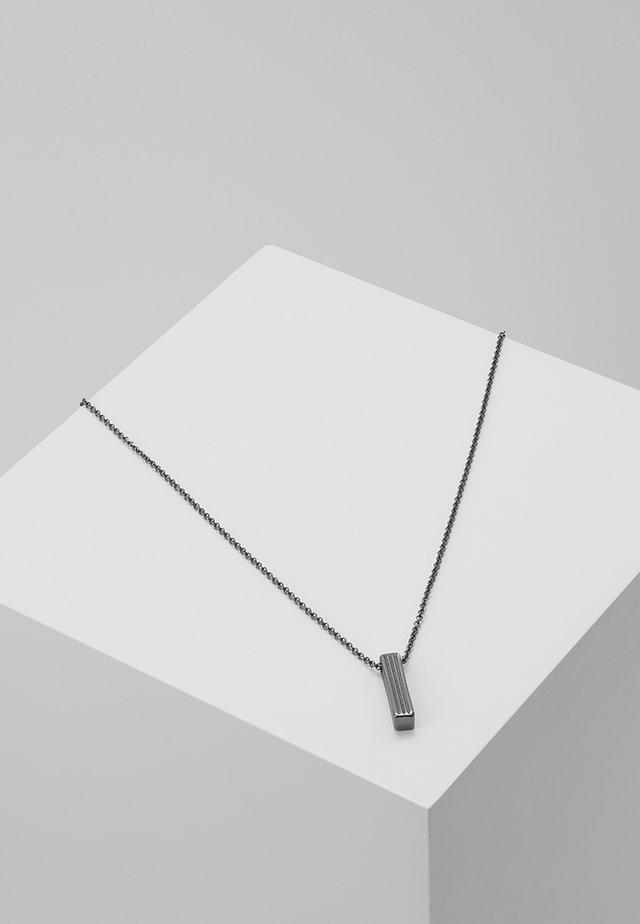 PINSTRIPE NECKLACE - Ketting - gunmetal