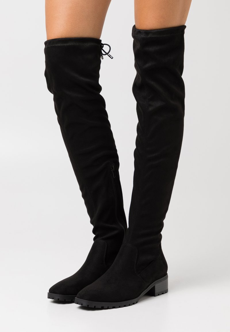 NA-KD - BASIC PROFILE SOLE  - Over-the-knee boots - black