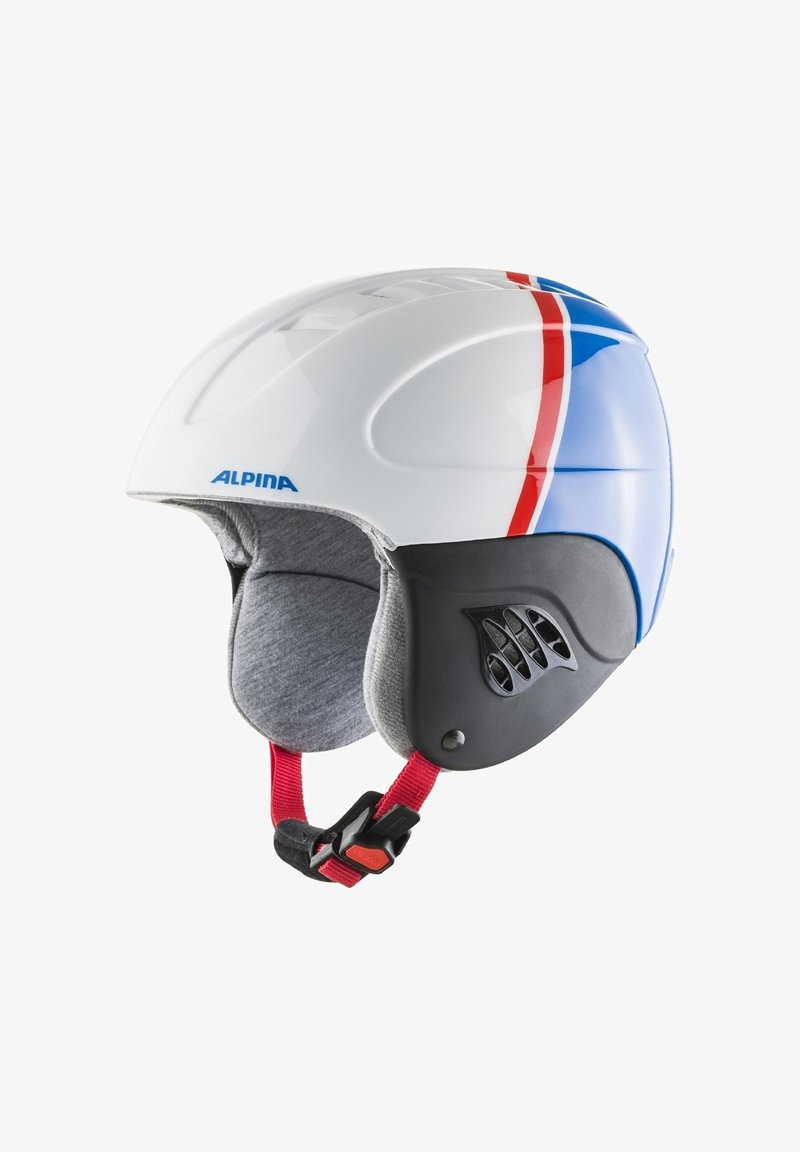 Alpina - Helmet - white-red-blue
