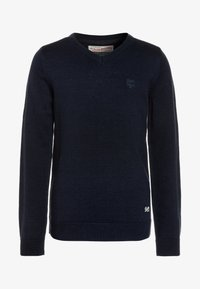 Petrol Industries - V NECK - Jumper - deep navy - 0