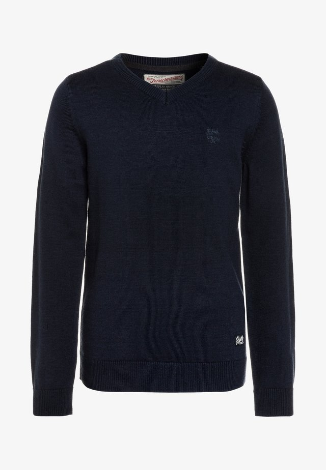 V NECK - Pullover - deep navy
