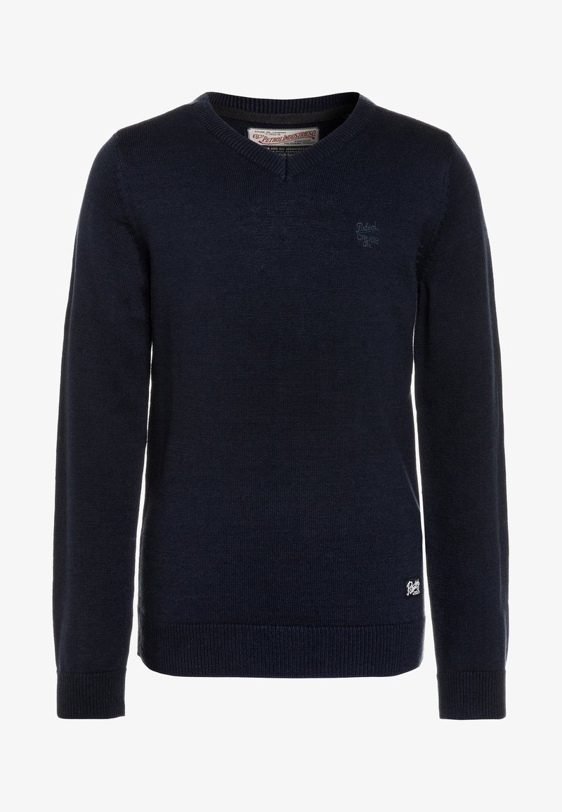 Petrol Industries - V NECK - Jumper - deep navy
