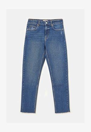 HIGH WAIST CROPPED STRAIGHT - Jeans slim fit - blu