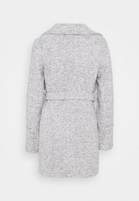 New Look - ALICIA BELTED FUR COLLAR COAT - Classic coat - light grey - 3