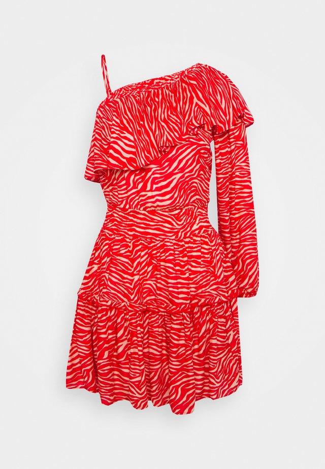 SHORT SLEEVES SHORT DRESS - Doplňky na pláž - red