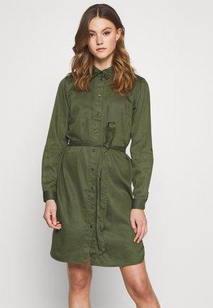 VIBISTA BELT DRESS - Shirt dress - forest night