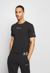 Champion - LEGACY TRAINING CREWNECK - T-shirt con stampa - black - 0
