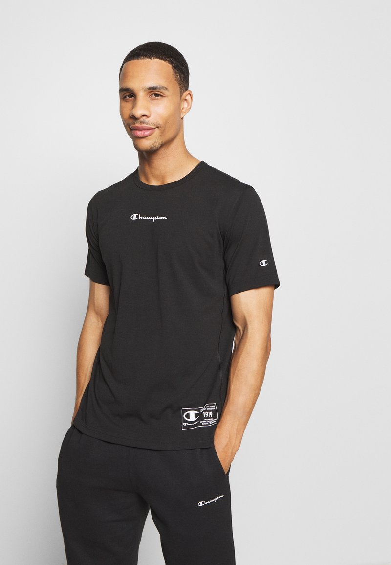 Champion - LEGACY TRAINING CREWNECK - T-shirt con stampa - black