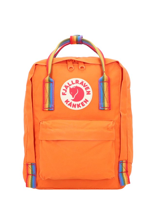KANKEN RAINBOW MINI CITY RUCKSACK 28 CM - Rucksack - burnt orange-rainbow pattern
