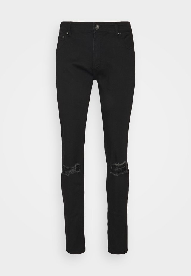 RIPPED SLIM FIT  - Slim fit jeans - black