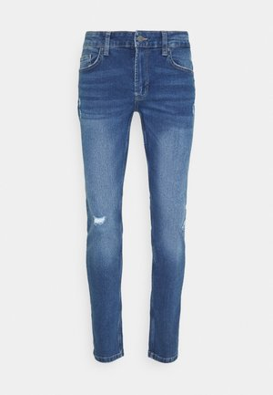 ONSLOOM SLIM BLUE DAMAGE - Jeans slim fit - blue denim