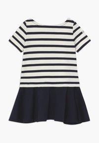 Polo Ralph Lauren - PONTE DRESS - Žerzejové šaty - hunter navy/clubhouse cream - 1