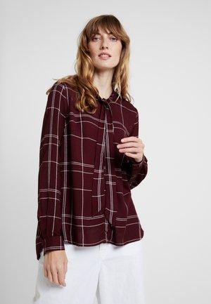 AGNES CHECK - Camisa - cabernet combo
